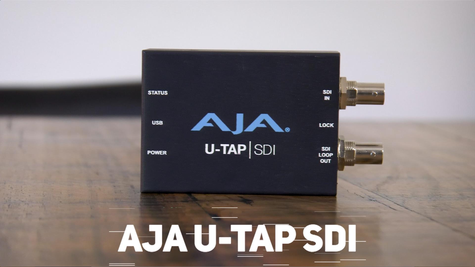 Multi Camera Live Streaming with the AJA U-Tap SDI - Product